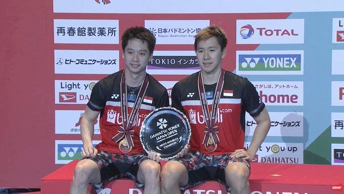 Marcus Fernaldi Gideon Kevin Sanjaya Sukamuljo Japan Open