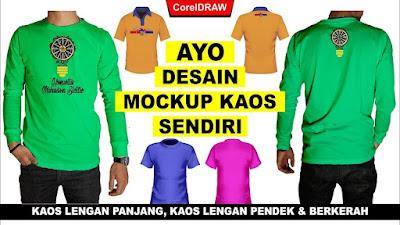 Desain Mockup Kaos CDR