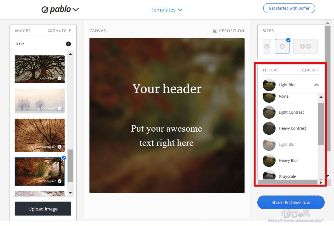 Pablo 線上文字圖片產生器