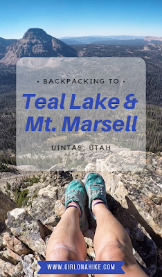 Backpacking to Teal Lake & Mt. Marsell, Uintas