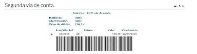 Print da Página Com código de barras da 2 via Copasa