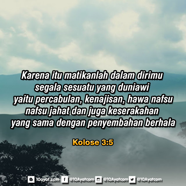 Kolose 3:5
