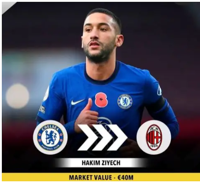 Chelsea is set to depart with Ziyech as they welcome a move for Haaland