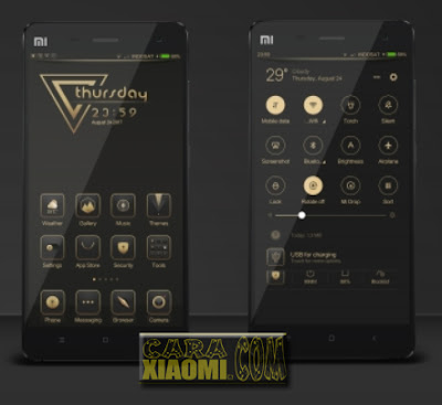 MIUI Theme Goldon 999 Mtz For Xiaomi V9 Themes [New Release]