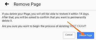 FB page delete Kaise Kare