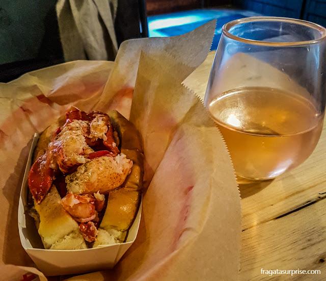 Sanduíche de lagosta da Luke's Lobster, Nova York