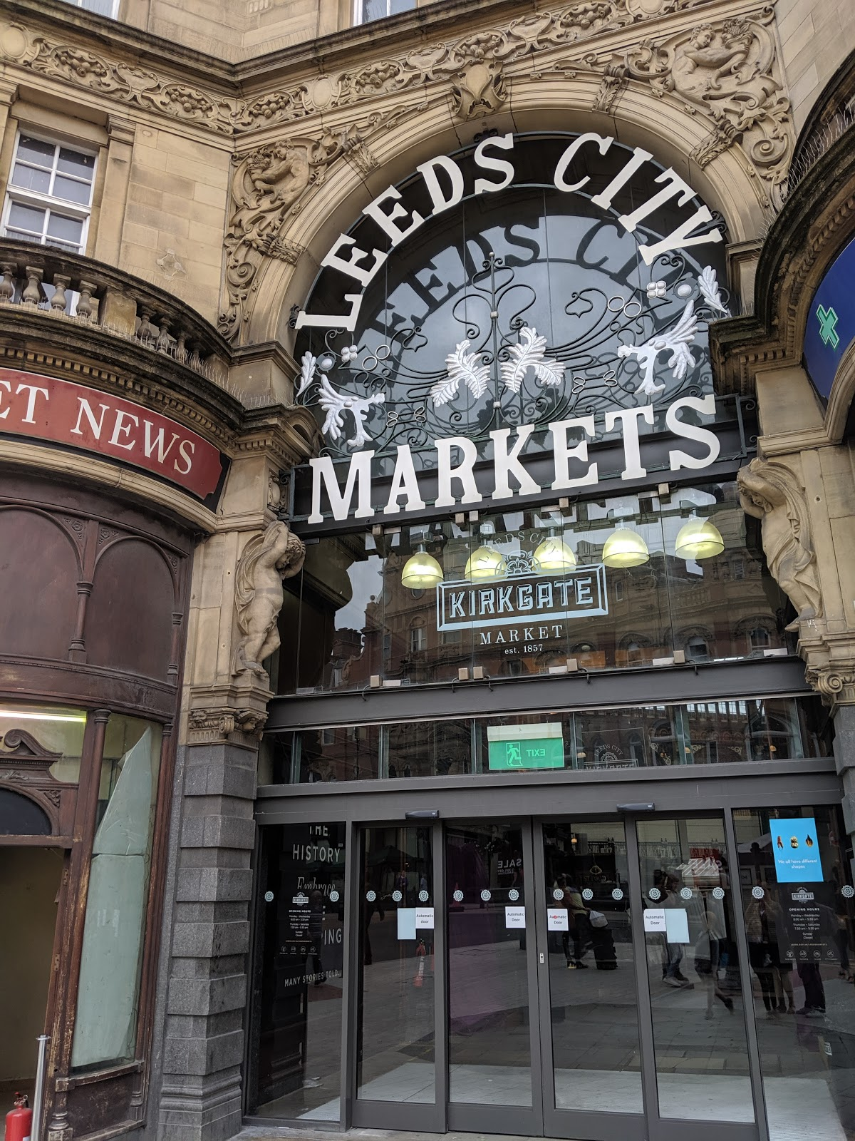 A Short Break in Leeds with Holidays by National Express  - Leeds City Market Entrance