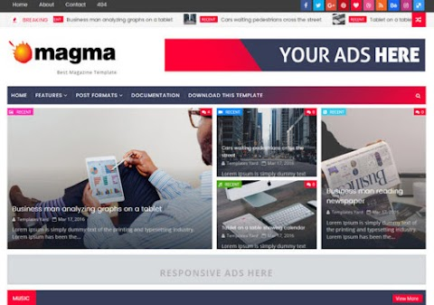 Magma Blogger Template | wiki Themes galaxy