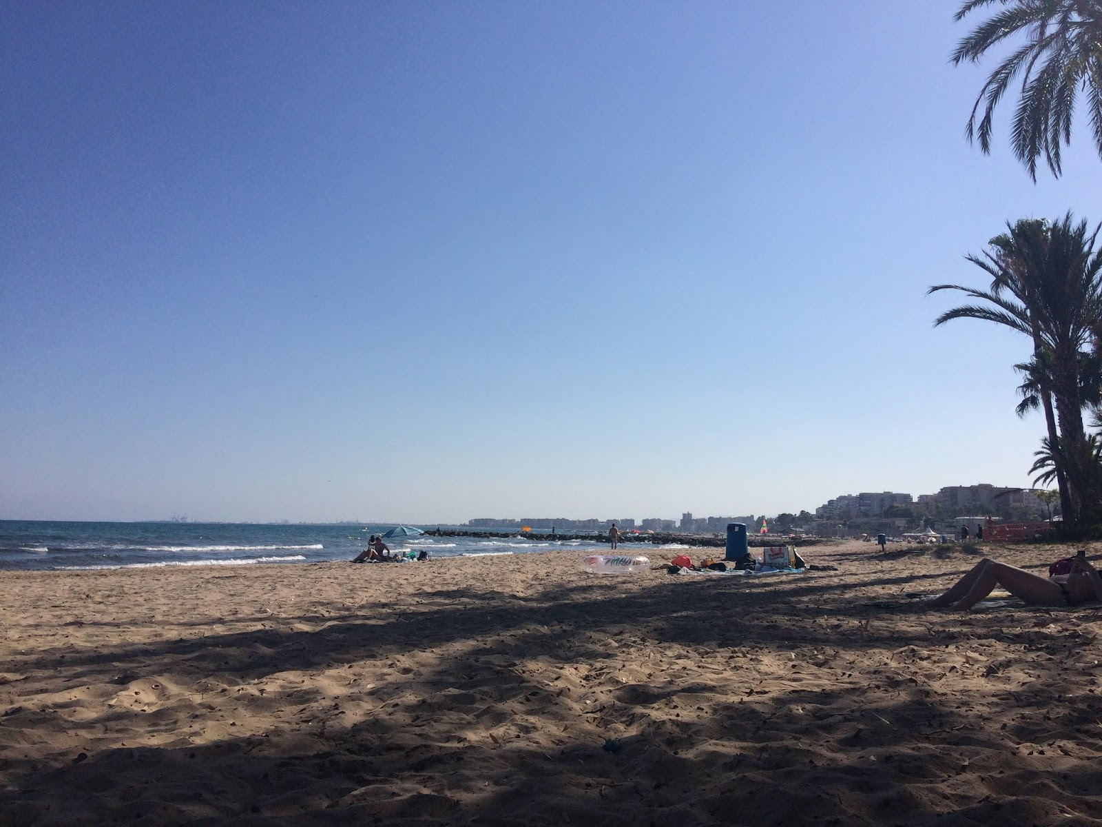 Benicassim beach with blue skies