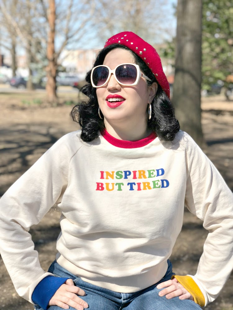 A Vintage Nerd, Vintage Blog, Valfre Clothing, Valfre Inspired but Tired Top, Sixties Style Inspiration,Tips to keep being inspired, Retro Fashion Blog, Forever 21 Beret