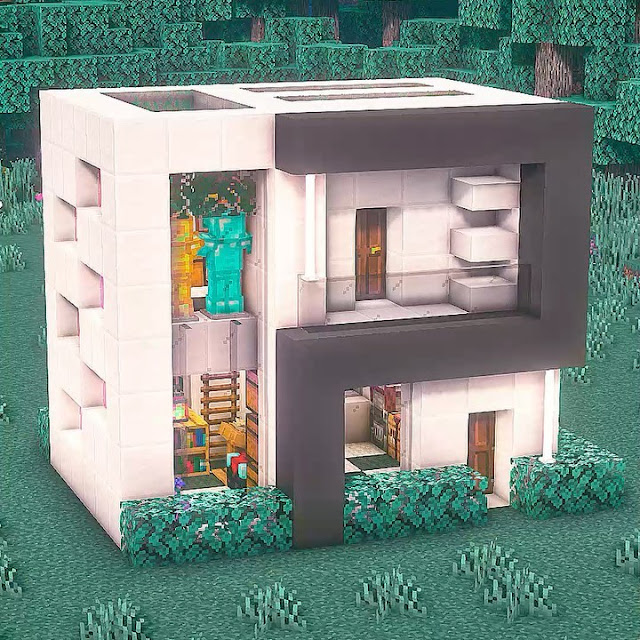 build an easy house in Minecraft | Minecraft House Ideas | Modern House In Minecraft