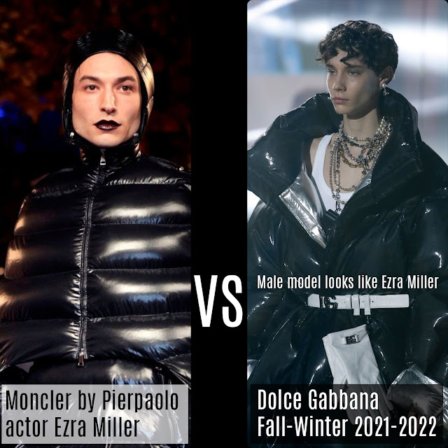 Moncler & Pierpaolo Piccioli Fall-Winter 2019-2020 by Ezra Miller vs Dolce Gabbana Fall-Winter 2021-2022