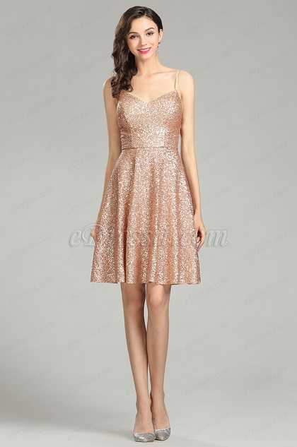 eDressit Sequin Gold Party Cocktail Evening Dress (04180624)