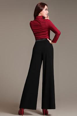 bentuk dan ukuran bokong semakin indah dengan celana Model Palazzo