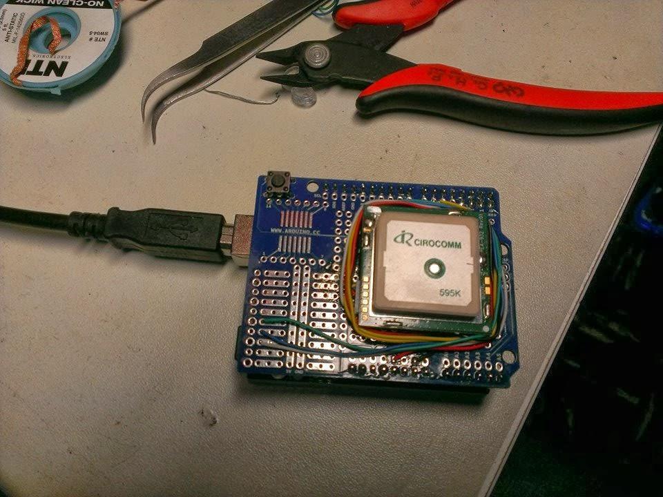 Arduino + Parallax GPS module (PMB-648 SiRF)