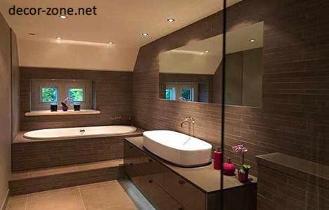 Modern Bathroom Design Ideas In Brown Color Combinations