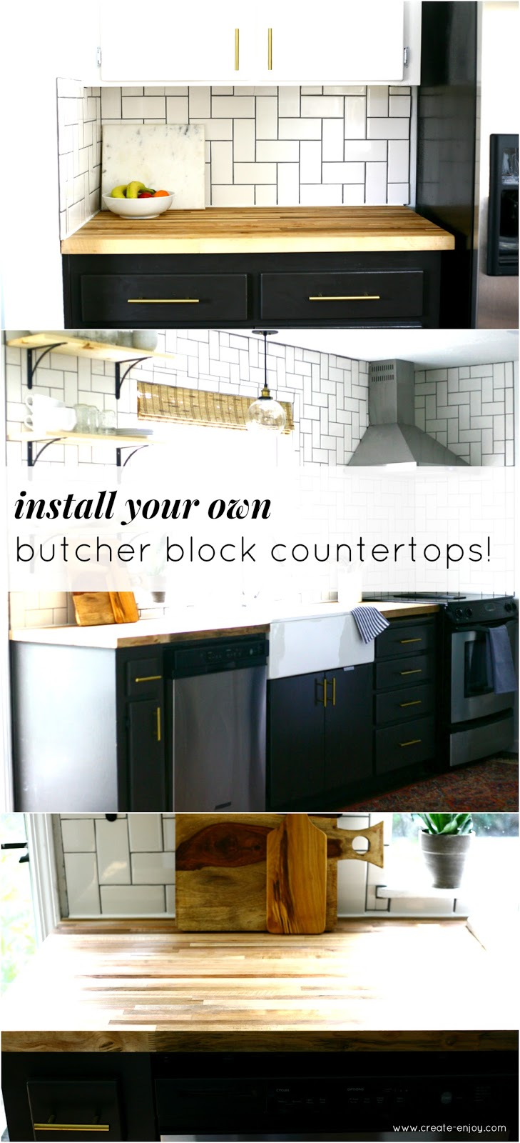 All about our diy butcher block countertops create enjoy for Countertop liquidators