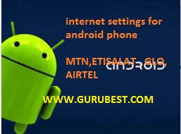 Manual internet settings configuration for android phone