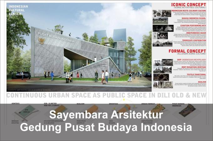 Desain Gedung Pusat Budaya Indonesia