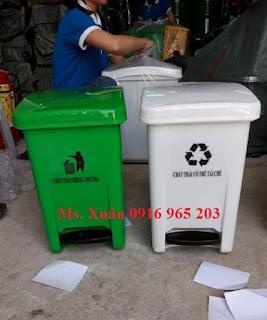 Thùng rác 20 lít đựng rác tái chế, rác sinh hoạt