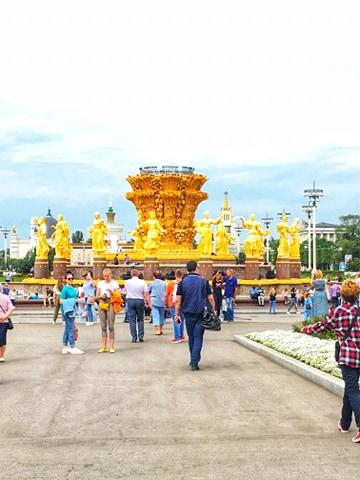 VDNh, złota fontanna moskwa, Moskwa atrakcje, VDNh atrakcje