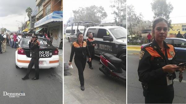 Reportera capta a oficiales de transito del Edomex recibiendo mordida y es agredida físicamente