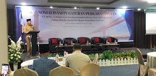 Staf Ahli Gubernur Bidang Pemerintahan, Hukum Dan Politik Secara Resmi Membuka Sosialisasi Peraturan Perkarantinaan.