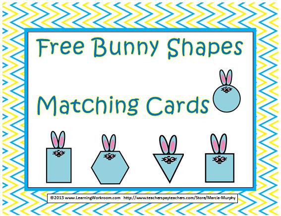 https://www.teacherspayteachers.com/Product/Free-Bunny-Shapes-Matching-Cards-Set-for-Kindergarten-598868