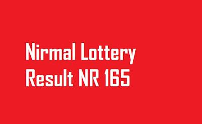 Nirmal Lottery Result NR 165