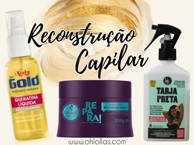 Guia completo sobre reconstrução capilar com queratina líquida e máscara de tratamento.