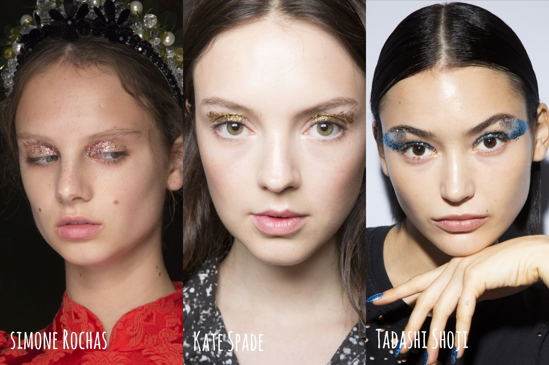 erdem dries von noten dior fenry beauty  versace marni lequan smith Simone Rochas kate spade tendências de maquiagem 2019