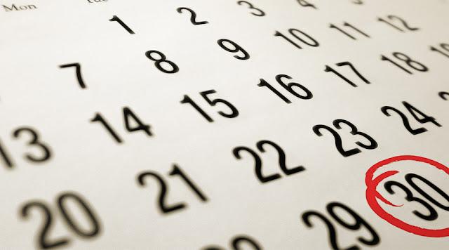 Calendario segundo trimestre