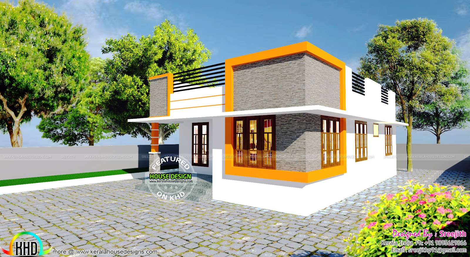 770 sq ft small budget home kerala home design and floor for Small house design in kerala
