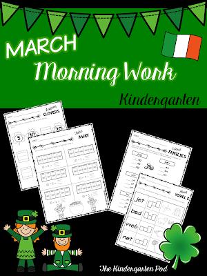 https://www.teacherspayteachers.com/Product/March-Morning-Work-2426677