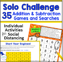 Independent Math Games for Social Distancing