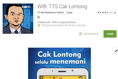 Kunci Jawaban Wib Tts Cak Lontong Lengkap Kokoh Dwiko Listanto