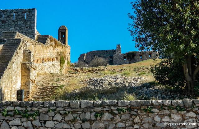 Bastiões da Fortaleza de Palamidi em Nafplio, Grécia