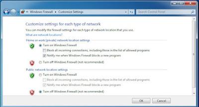 Nonaktifkan Windows Firewall 5