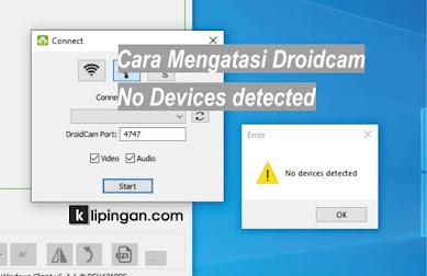 Mengatasi Droidcam No Device Detected