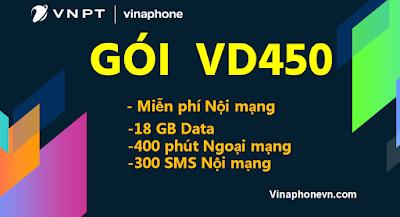Có ngay 18GB data, 400 phút gọi ngoại mạng, SMS và gọi Nội mạng miễn phí gói VD450 Vinaphone! Vinaphonevn.com