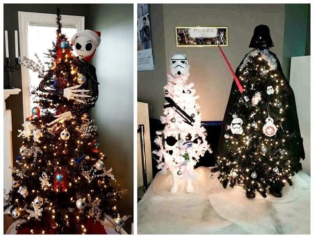 Darth Vader, stormtrooper, Jack Skellington