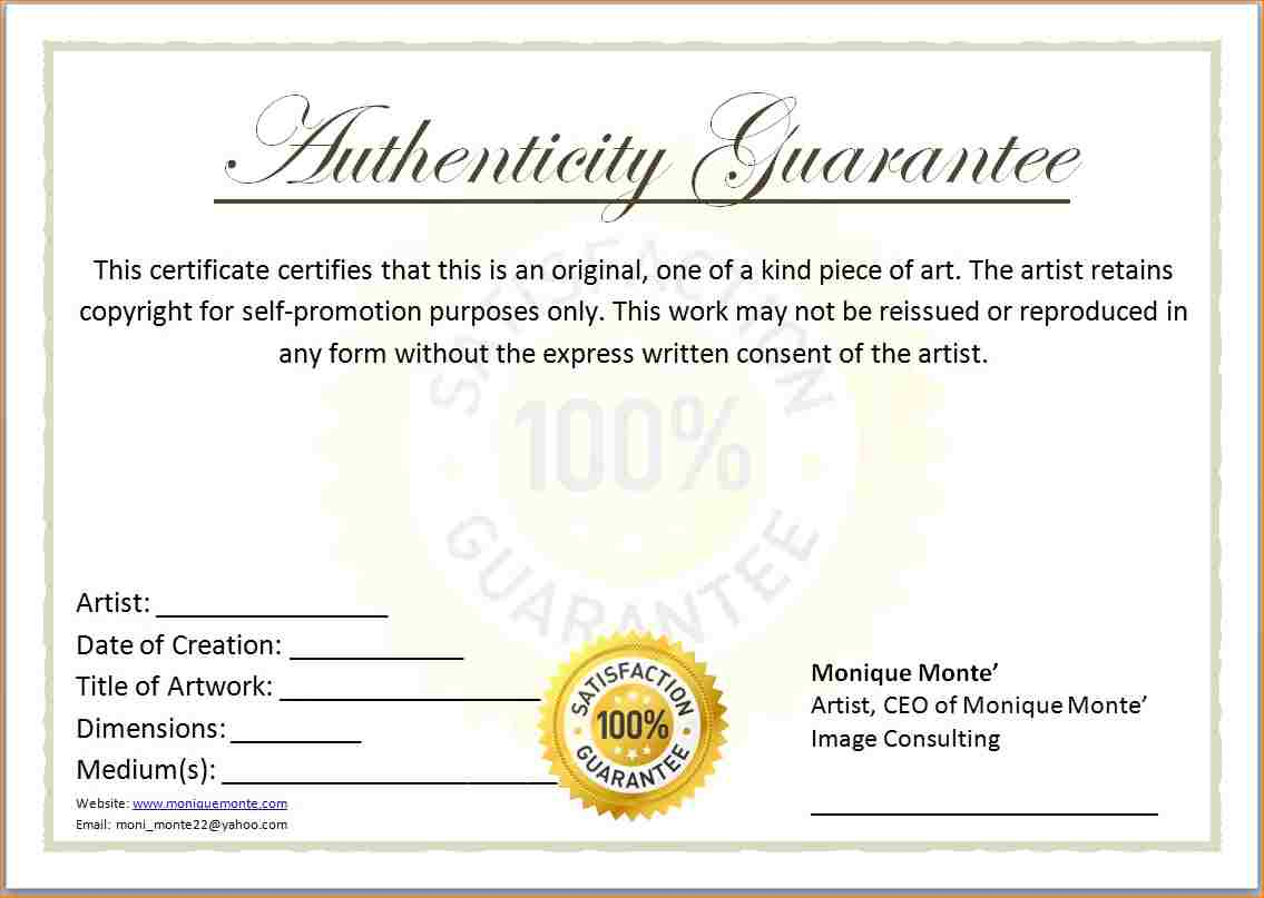 Printable certificate authenticity template apa templates printable certificate authenticity template yelopaper Choice Image