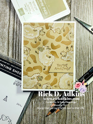 Simple Sunday project using the Counting Sheep Sale-A-Bration 2 Stamp Set by Rick Adkins