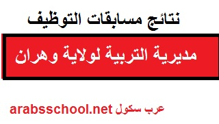 نتائج مسابقات التوظيف 2017 مديرية التربية لولاية وهران