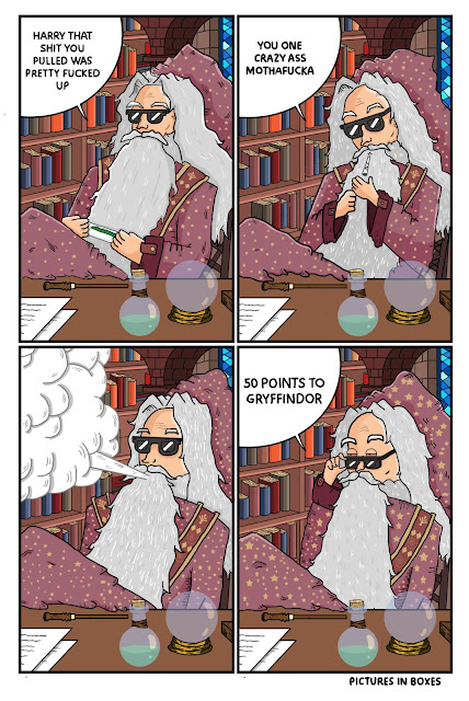 Amusing comic about Dumbledore being a stoner