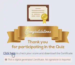 [Quiz certificate] Download For 100 Activity Point