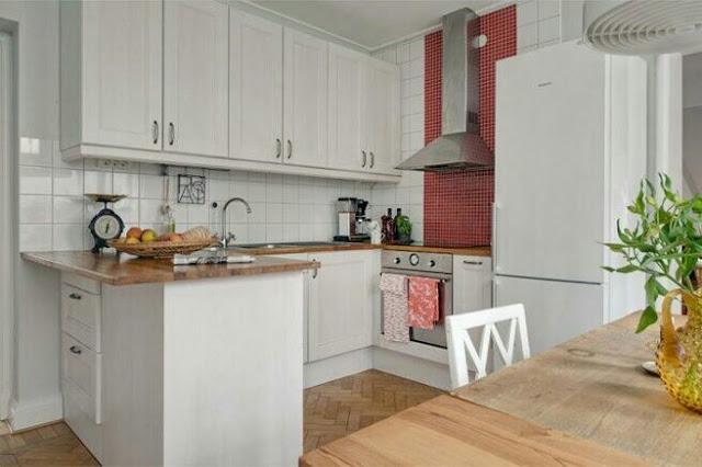 Interior design of a small kitchen