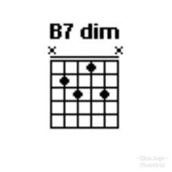 Chord gitar B7Dim