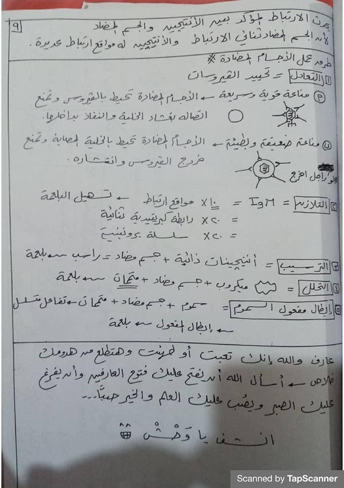 مراجعة المناعة أحياء للثالث الثانوي مستر محرم 9