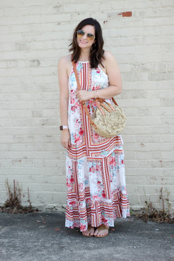 target floral maxi dress, style on a budget, mom style, north carolina blogger, maxi dresses for summer